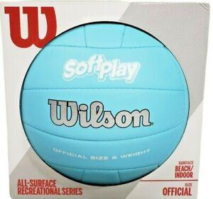 Wilson Beach Blue Volleyball Outdoor Indoor Soft Play Ball Summer Volleyball New