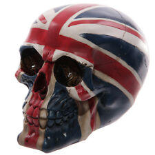Skull union Jack Flag Ornament Figurine Collectable Fantasy Gothic Decoration