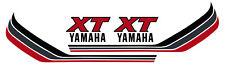 Yamaha XT250 Tankdekor Aufkleber rot/silber/dunkelgrau, 1 Paar Fuel Tank Decal
