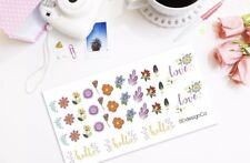 35 Flower, Hello, and Love Stickers for Various Types of Planners (#212)