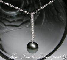 AAA+ Tahiti pearl white gold with diamond pendant