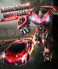 Transformers 2.4G RC Remote Control deformation Robot Car Rechargeable Red