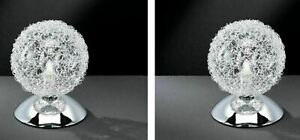 2er Tischleuchte Draht Kugellampe Bett Nachttischlampe Lampe Leuchte Tischlampe