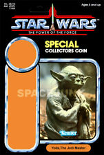 STAR WARS: POWER OF THE FORCE Yoda (1985) Repro Kenner Cardback