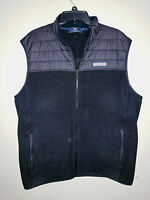 Mens Vineyard Vines Sleeveless Vest Puffer Fleece Full Zip Size XL
