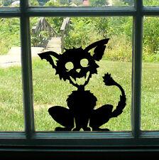 Spooky Chien Noir Effrayant Voiture/Vélo/Fenêtre/Mur/ordinateur portable Halloween Autocollant Vinyle Autocollant