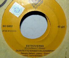 """QUINTETTO BASSO VALDAMBRINI ESTROVERSO ( UMILIANI)  7"""" BASHFULLY - JAZZ ITA 1967"""