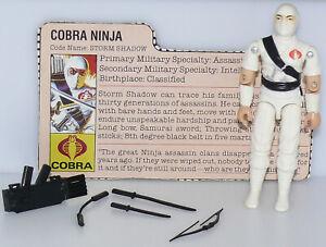 Vintage 1984 GI Joe Storm Shadow Cobra Ninja Complete w/ File Card, Nice White