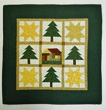 "Hand Made Quilted Patchwork Wall Hanging / Table Mat  Country Folk Art 20"" x 20"""