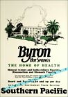 The Byron Hot Springs California Southern Pacific Vintage Poster Print Retro Art