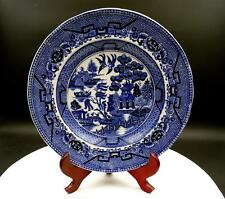 "PETRUS REGOUT MAASTRICHT BLUE WILLOW IRONSTONE 9 1/2"" PLATE 1836-1880"