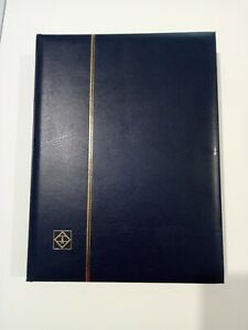 Lighthouse s64 Comfort 64 black pages with padded covers Navy Blue Stamp Album