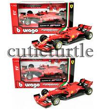 Bburago Sebastian Vettel #5 /Charles Leclerc #16 2019 Ferrari F1 SF90 1:43 36815