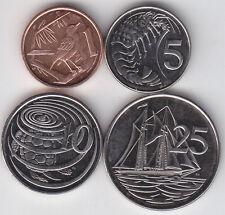 Cayman Islands - 1 , 5 , 10 , 25 Cents Coin Set - UNC
