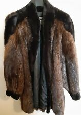 Vintage Womens Black and Brown Faux Fur Coat By Pat Flesher Luxury Furs SZ 2/3X