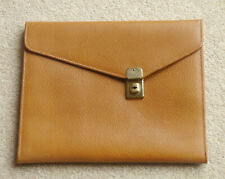 Tan Grained Leather Effect Writing Case