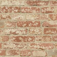 RMK9035WP Stuccoed Red Brick Peel and Stick Wallpaper FREE SHIPPING