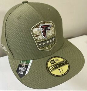 Atlanta Falcons New Era 59Fifty Salute to Service Fitted Hat Size 7 1/8 Jones