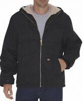 Dickies Deep Black Mens Size XL Full-Zip Sherpa-Lined Hooded Jacket $99 830