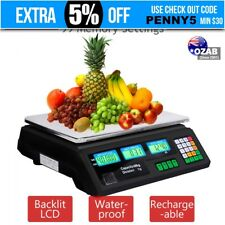 Kitchen Digital Electronic Scale 40KG Commercial Shop Weight Scales Food Black