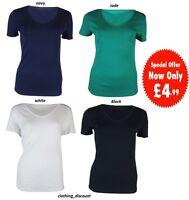 Ladies Womans M&S 100% cotton t shirt top size 8 10 12 14 16 18 20 22 24 NEW