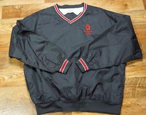 ?? Beijing 2008 Olympics USA Mens Nylon Windbreaker Jacket V-Neck Black Size L