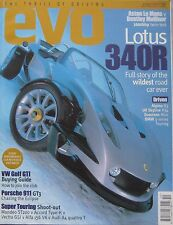 EVO 10/1999 featuring Lotus 340R,26R, Porsche, Ford ST200, Aston Martin, Bentley