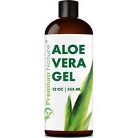 Aloe Vera Gel For Face & Body Moisturizer Skincare 12 oz