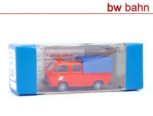 Roco miniatur modell H0 1549 VW T3 Bus der ÖBB, Doppelkabine Pritsche/Plane