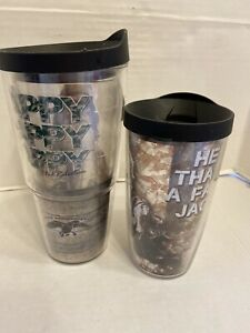2 Tervis Duck Dynasty Robertson 24 oz Clear Tumbler Cup Keeps Drinks Hot & Cold