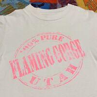 Vintage 90s Flaming Gorge Reservoir Wyoming Utah T Shirt Adult XS S White USA