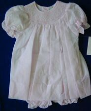 NWT Smocked Baby Dress Pink  2pc diaper cover 3M
