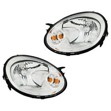 Fits 2003-2005 Dodge Neon Driver + Passenger Headlight Lamp Assembly 1 Pair