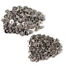 100x Silver Solid Binding Screw Button Nail Rivets Leather Craft Belt Bag Purse
