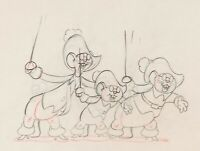 Three Blind Mouseketeers Production Drawing Animation Art (Walt Disney, 1936).