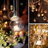 Clear Hanging Glass Bauble Ball Tealight Candle Holder Wedding Garden Decor s/