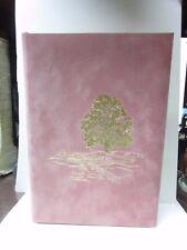 Tree Pink Velvet Funeral Memorial Service Register Guest Tribute Book