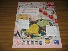 1948 Print Ad Stokely-Van Camp Canned Fruits & Vegetables Honor Frozen Foods