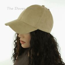 48bddd926ff05 DAVID   YOUNG Women s SAND BEIGE Faux Suede BASEBALL CAP Six Panel HAT ...