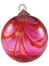 Glass Eye Studio CLASSIC VALENTINE Hand Blown Art Glass Round Christmas Ornament