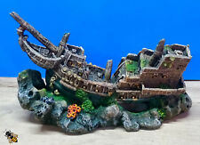 Wooden Galleon Large Aquarium Shipwreck Fish Cave Fish Tank Wreck Decoration