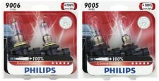 4x Philips 9005+9006 X-TremeVision Upgrade 100% Super More Bright Light Bulb 55W