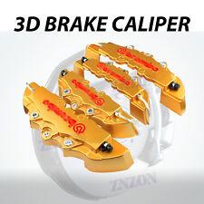 4pcs Gold 3D Styling Disc Brake Caliper Cover Kit For Kia 16-18 inch wheels