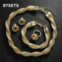 Jewelry Sets For Women African Beads Jewelry Set Gold Color Ethiopian Dubai Brid