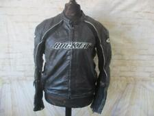 "MENS JOE ROCKET SIZE L 44-46"" CHEST ARMOURED LEATHER MOTORCYCLE JACKET / H0193"