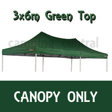 OZTRAIL 6x3m (GREEN) CANOPY ROOF DELUXE GAZEBO REPLACEMENT PAVILION COVER TOP