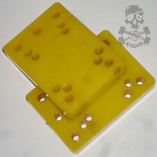 """1970s  Original Skateboard Riser Pads  1/2""""  Yellow  x 2  -  NOS"""