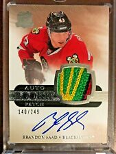 2011-12 UPPER DECK THE CUP #132 BRANDON SAAD RPA RC PATCH AUTO 140/249 FEATHER!!
