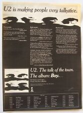 U2 original 1981 POSTER ADVERT BOY