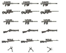 BRICKBUMS CUSTOM SNIPER WEAPONS PACK DESIGNED FOR LEGO MINIFIGS NEW